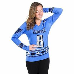 Marcus Mariota Women Medium Glitter V-Neck Sweater NFL Footb