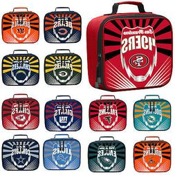 New NFL PICK YOUR TEAMS Adult / Kids Insulated Lunch Box Bag