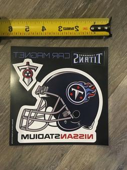 New NFL Tennessee Titans Car Magnet Helmet Sword Nissan Stad