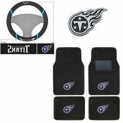 New NFL Tennessee Titans Car Truck Floor Mats Steering Wheel