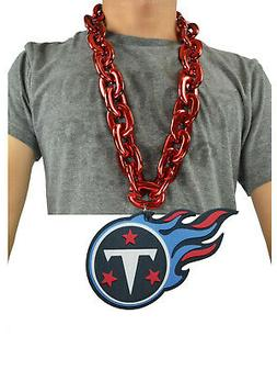 New NFL Tennessee Titans Red Fan Chain Jumbo Necklace Foam M
