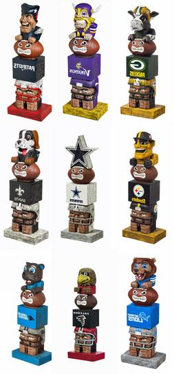 New NFL Tiki Totem Licensed Mascot Figurine by Team Sports A