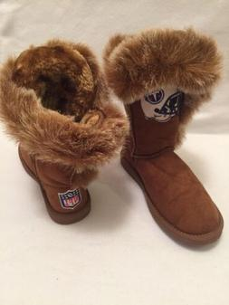 New Tennessee Titans NFL Women's 7M Faux Suede Fur Brown Boo