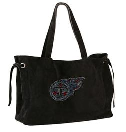 NEW TENNESSEE TITANS SUEDE & CRYSTALS TOTE BAG PURSE