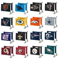 NFL Football Car Hood / Trunk Ambassador Flags Set of Two Do