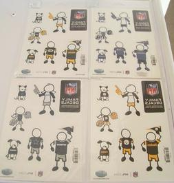 NFL Football Teams Car Decals Family Fans 6 Pack Auto Sticke