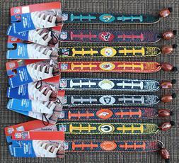 NFL Genuine Leather Fan Bracelet Wristband TEAM COLOR  GameW
