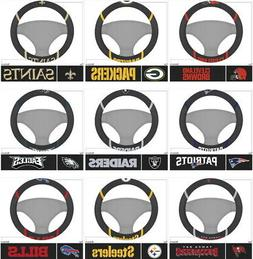 NFL Steering Wheel Covers Embroidered Choose Your Team