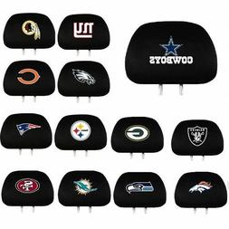 * NFL Teams -  2-Pack Auto Car Truck Headrest Covers
