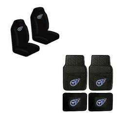 NFL Tennessee Titans Car Truck Front Back Rubber Floor Mats