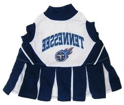 "NFL Tennessee Titans Cheerleader Pet Dress-XS Fits 6""-8 1/2"""