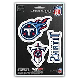 Team ProMark NFL Tennessee Titans Die-Cut Decal Sticker 3-Pa