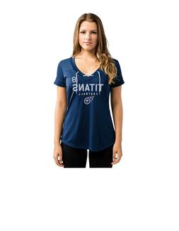 NFL Tennessee Titans Marcus Mariota #8 Women's V-Neck Synthe