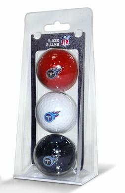 Tennessee Titans NFL Regulation Golf Balls 3 Pack Sleeve Put