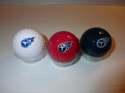 Team Golf NFL Tennessee Titans Regulation Size Golf Balls, 3