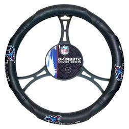 NFL Tennessee Titans Steering Wheel Cover, Black, One Size