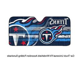 NFL Tennessee Titans Universal Auto Shade, Large, Blue