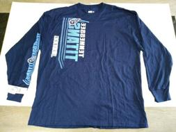 NWT Tennessee Titans Mens NFL Team Apparel L/S T Shirt Navy