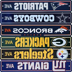 Official NFL Football Street Sign Ave Licensed Durable Man C