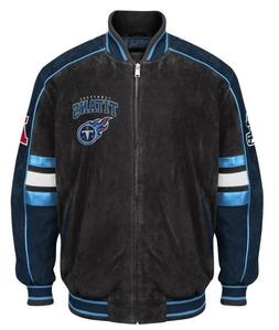 Officially Licensed NFL Tennessee Titans Varsity Suede Leath