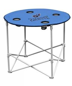 Portable Folding Table Tennessee Titans NFL Football Round T