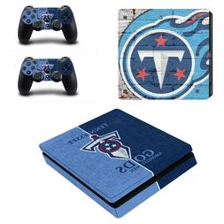PS4 SLIM - Tennessee Titans - Vinyl Protector Skin + 2 Contr