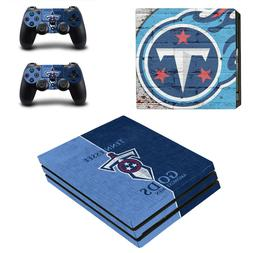 Sony PS4 PRO - Tennessee Titans - Vinyl Protector + 2 Contro