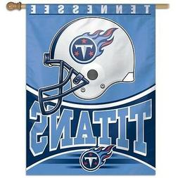 TENNESSEE TITANS ~  Official NFL 27x37 Outdoor House Flag Ba