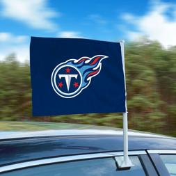"""Tennessee Titans 11""""x14"""" 2-Sided Window Mounted Car Flag"""