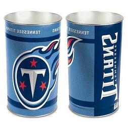 "TENNESSEE TITANS 15""X10.5"" TRASH CAN WASTEBASKET BRAND NEW W"