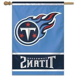 """TENNESSEE TITANS 28""""X40"""" HOUSE FLAG BANNER WEATHER RESISTANT"""