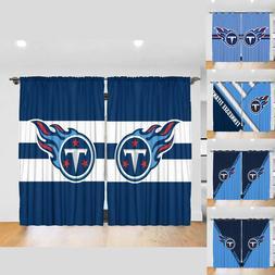 Tennessee Titans 2PCS Blackout Heavy Thick Soild Window Curt