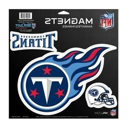 "TENNESSEE TITANS 3 PACK OF DIE-CUT VINYL MAGNETS 11""X11"" SHE"