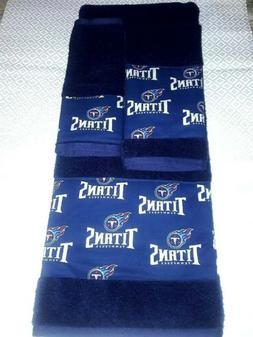 tennessee titans 3 piece bath towel set
