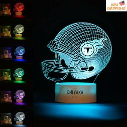 3D LED Night Light Tennessee Titans NFL Rugby Football Table