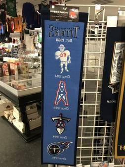 tennessee titans banner embroidered wool flag pennant