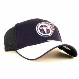 TENNESSEE TITANS BASEBALL CAP HAT 2 TONE BLUE WHITE BILL MES