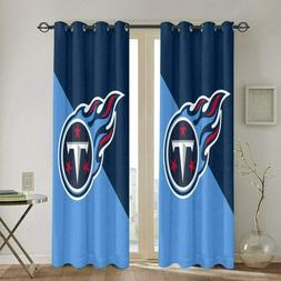 Tennessee Titans Blackout Curtain Thermal Insulated Window D
