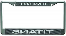 Tennessee Titans Carbon Fiber LASER FRAME Chrome Metal Licen