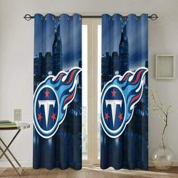 Tennessee Titans City Light Linen Window Curtain Panel 2PC R