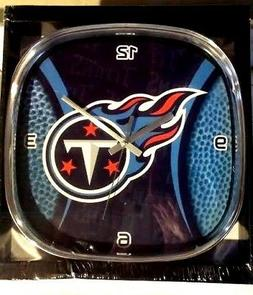 TENNESSEE TITANS Clock 12 Inch Wall Office Den Man Cave Memo