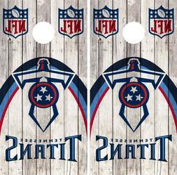 Tennessee Titans Cornhole Wrap NFL Wood Skin Game Board Set