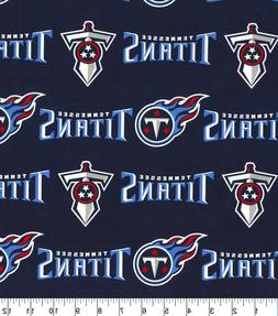"""TENNESSEE TITANS COTTON FABRICFQ 1/4yd 18""""x29""""- perfect for"""