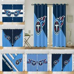 Tennessee Titans Curtain Blackout 3D Window Drape Living Roo