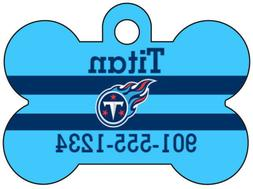Tennessee Titans Custom Pet Id Dog Tag Personalized w/ Name