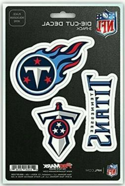 Tennessee Titans Decals NFL ProMark Die-Cut Stickers 3 Pack