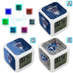 Tennessee Titans Sport Alarm Digital Clock 7 LED Color Chang
