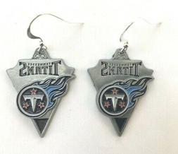TENNESSEE TITANS Earrings Pewter Charm Sterling Earwires, NF