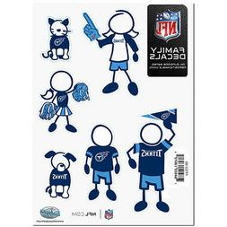 Tennessee Titans Family Decals 6 Pack  Auto Car Stickers Emb