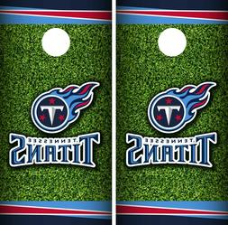 Tennessee Titans Field Cornhole Wrap NFL Skin Game Board Set
